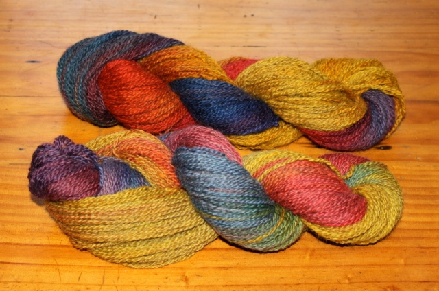 Rainbow skeins