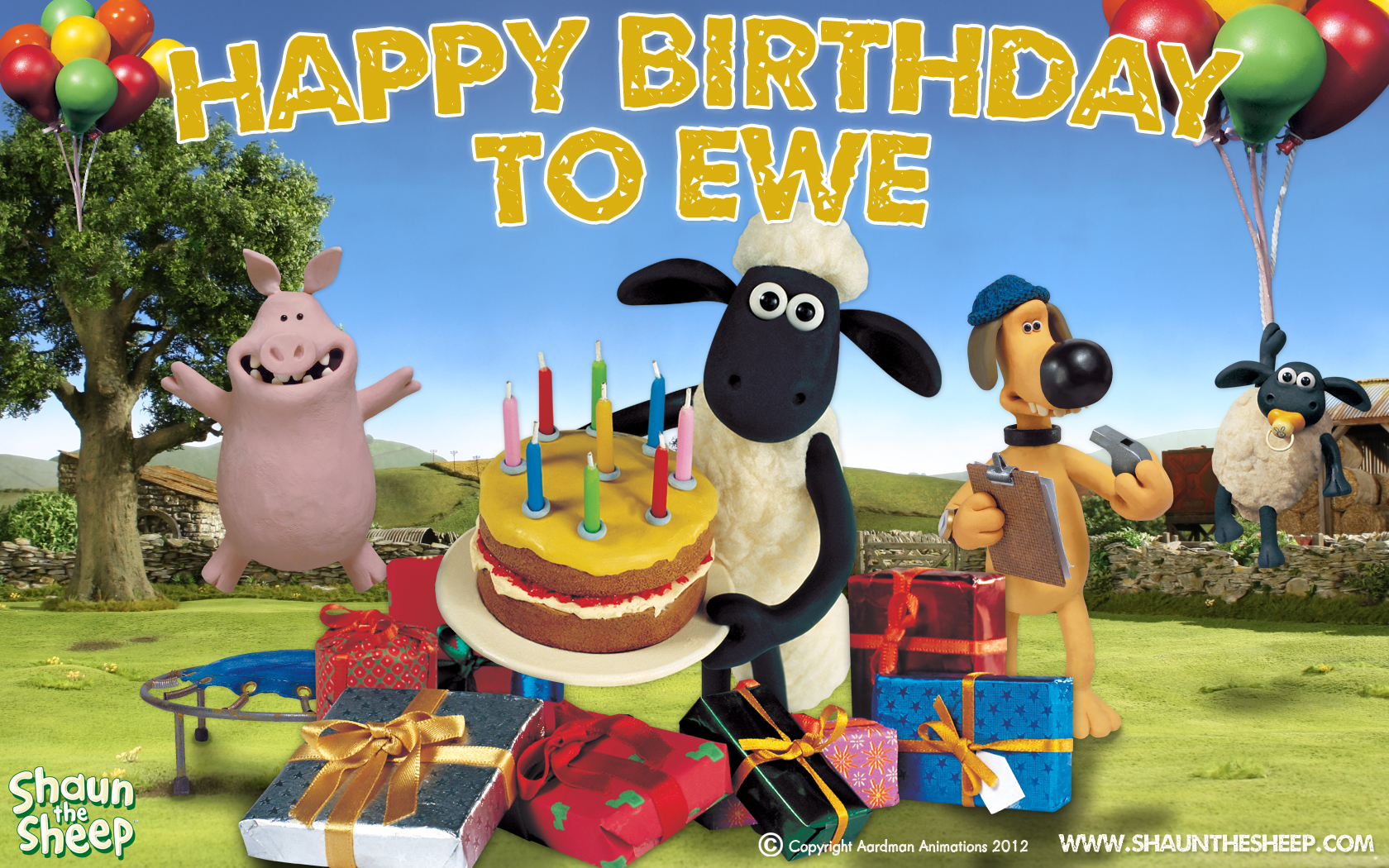 Birthday Loot – Shaun the Sheep Birthday Card