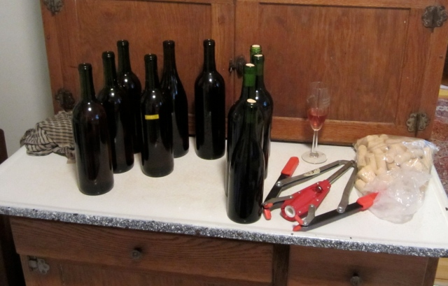 plum wine bottle