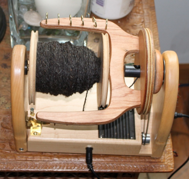 peacock wool plied