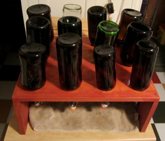 washed bottles