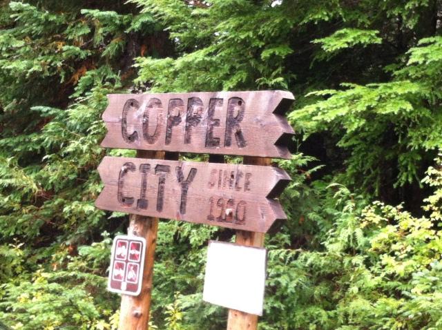 c opper city sign