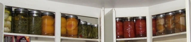 shelf of canning