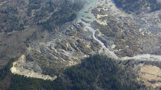 mudslide and Stilly river