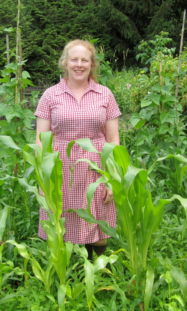 Donna and corn