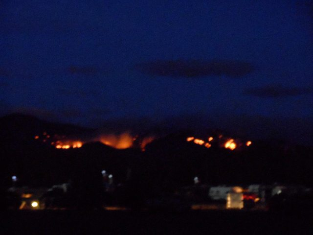 flames above campground