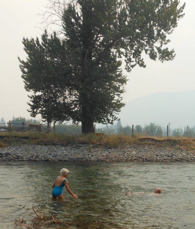 Tom and Ann in Methow River