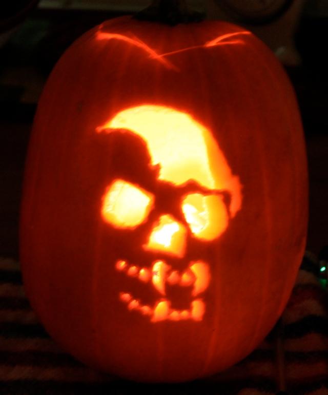 skull pumpskin
