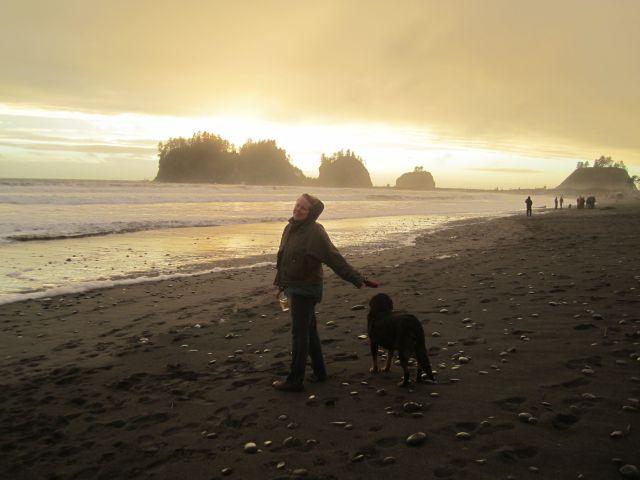 Donna Mopar and sunset