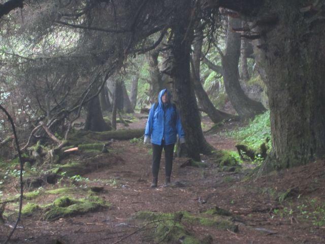 Donna on trail to Shi Shi