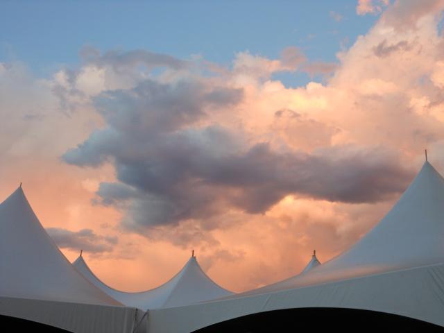 Clouds over beer garden