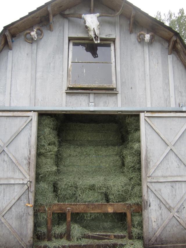 full hay barn