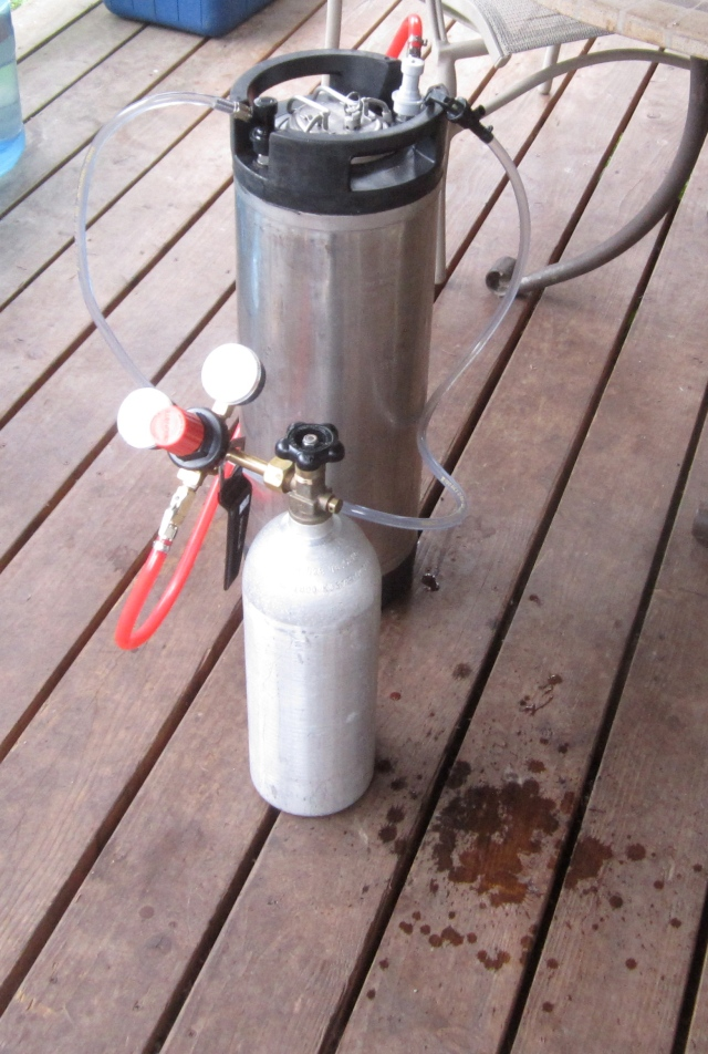 keg and CO2 tank
