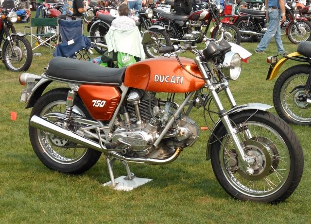 Orange Ducati 750