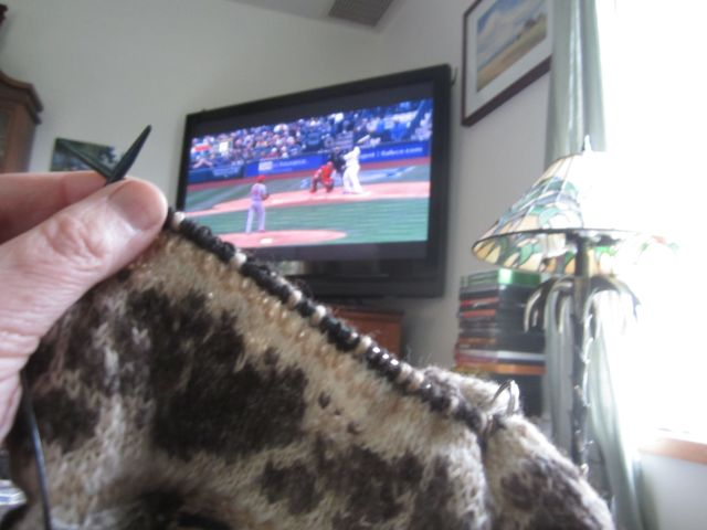 knitting and Nelson Cruz first at bat