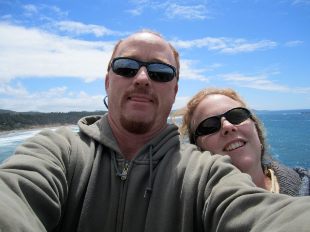 Oregon coast selfie