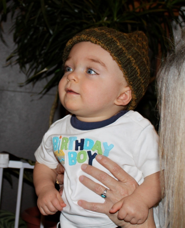 Liam with new hat