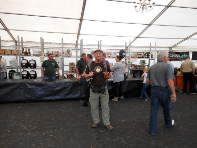 Tom at Caldicot cider festival
