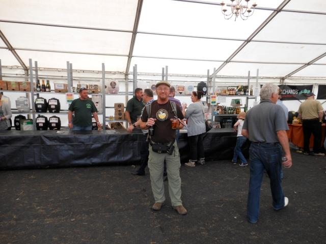 Tom at Caldicot cider festival