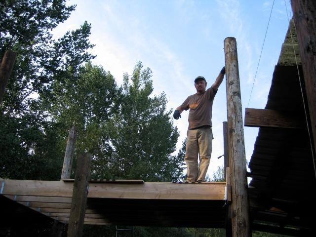Building hay loft