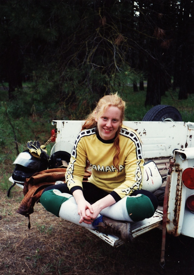 1981 donna on motorcycle trailer