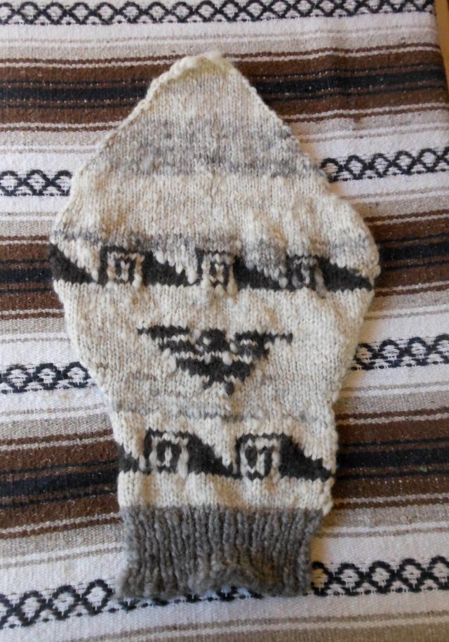 Cowichan sweater sleeve