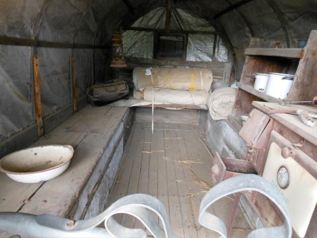 inside sheepherders wagon