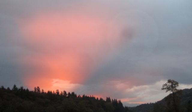 October first sunrise