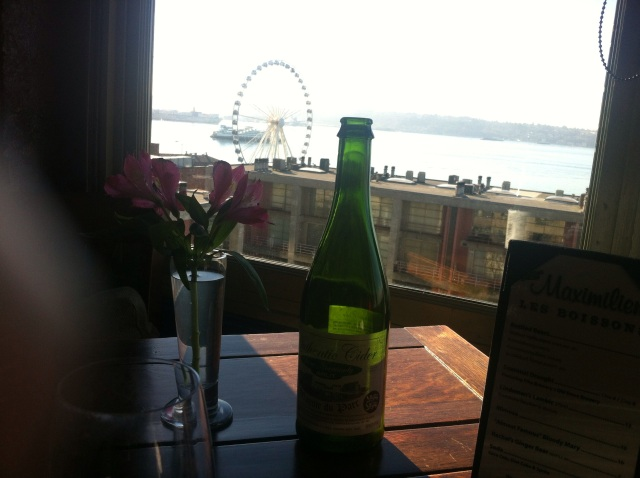 French cider with a view