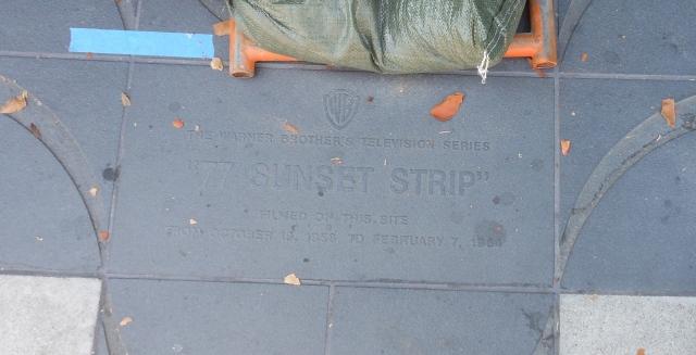 77 Sunset Strip plaque