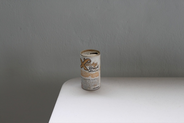 Lucky beer can