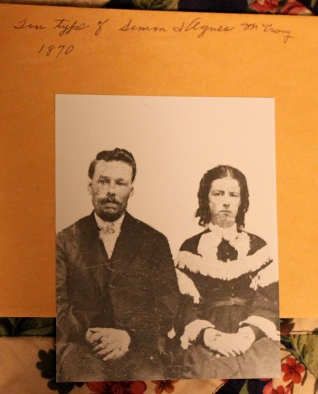Simon and Agnes McCrory 1870