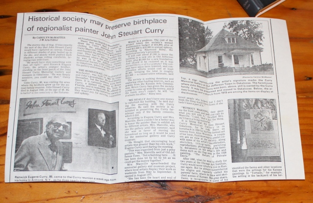 Historical society may preeserve birthplace of regionalist painter Jon Steuart Curry