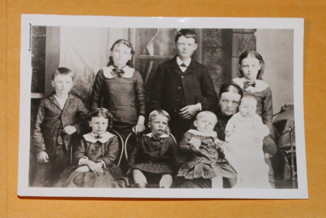 Rachel Steuart and her eight children early