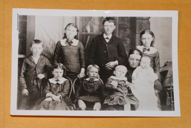 Rachel Steuart and her eight children early