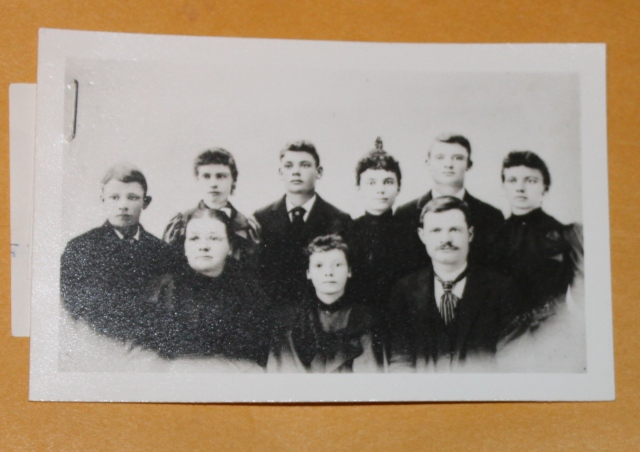 Rachel Steuart and her eight children