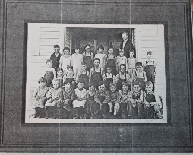 White siblings school photo
