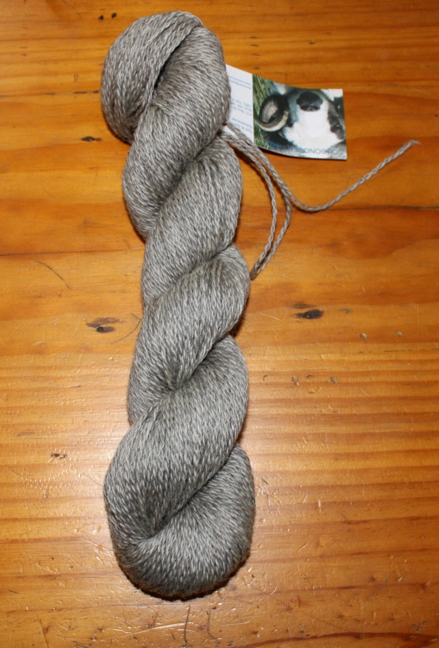 2 ply sportweight black katmoget Shetland yarn from Jewel ~4 oz, 250 yards, $9.JPG