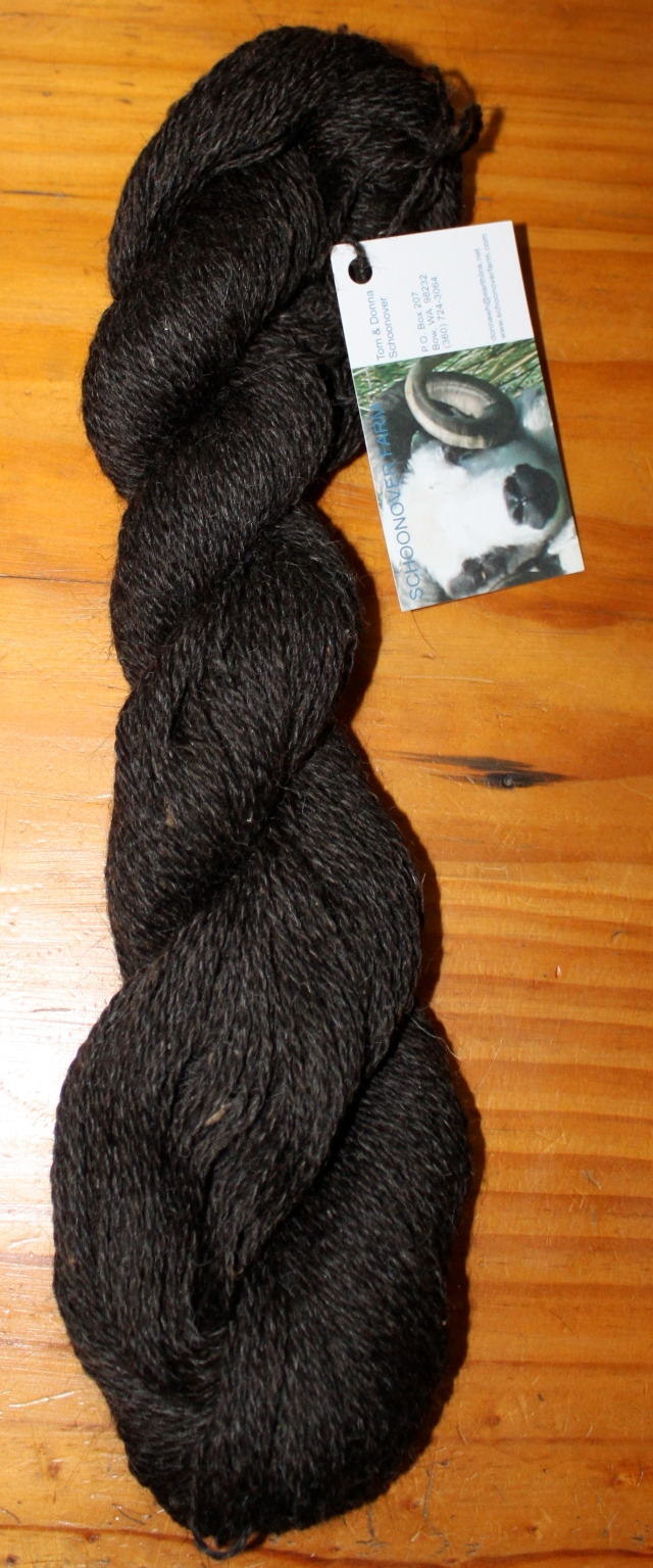 2 ply sportweight black Shetland yarn from Hodor, Diddley, Ket & Madonna, ~3 oz, 250 yards, $9