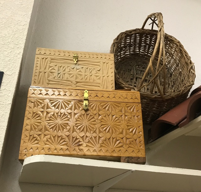 boxes and basket made by Northern State Hospital patients