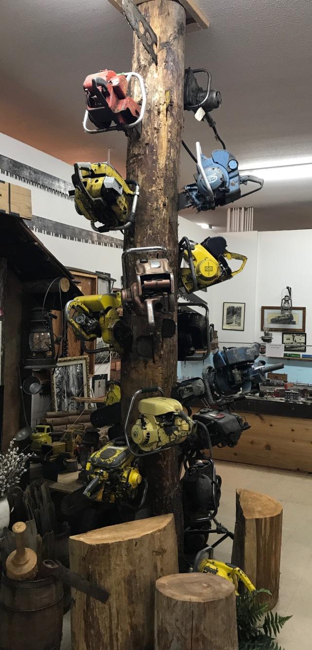 chain saw tree