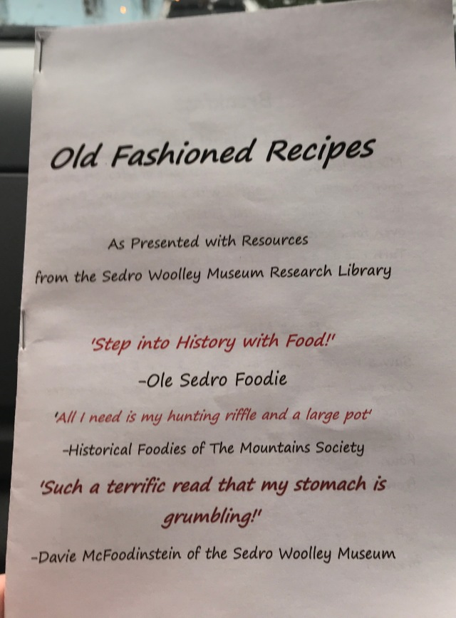 Old Fashioned Recipes booklet