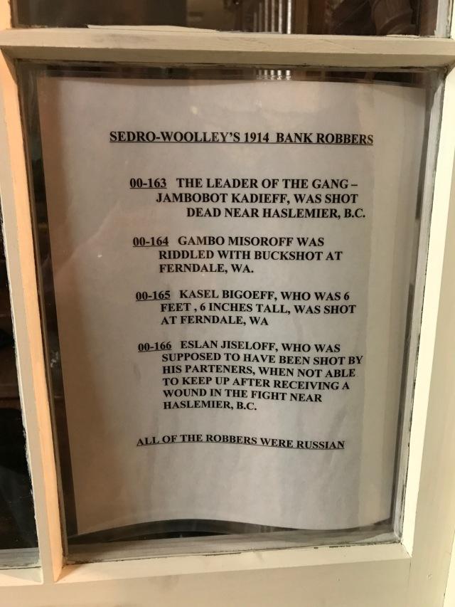 Sedro Woolley bank robbers