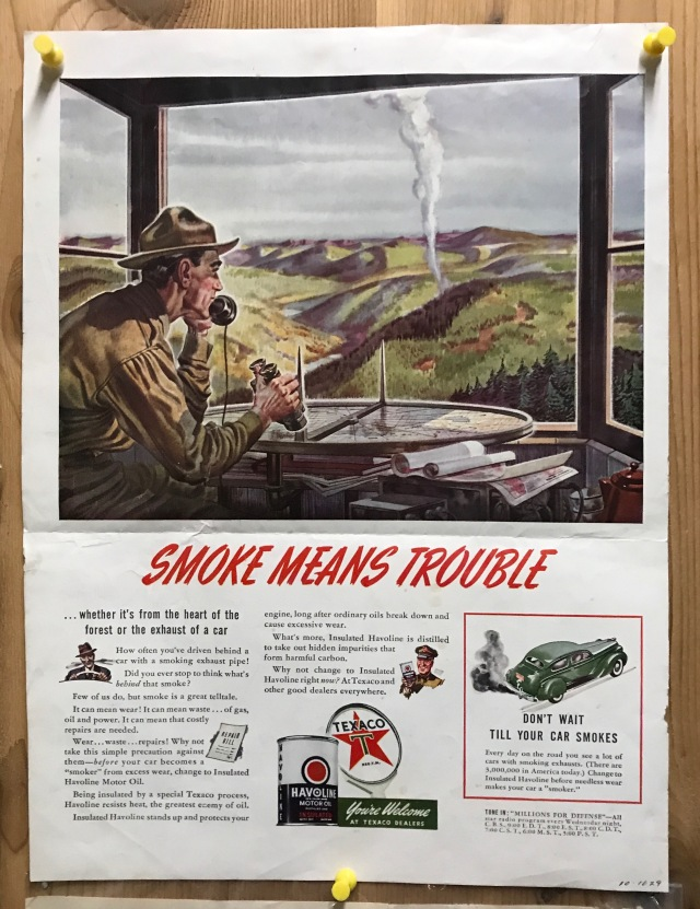 Smoke means trouble sign