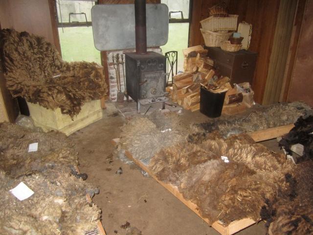 living room wool