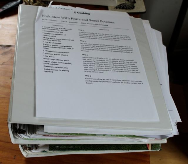 printed digital recipes