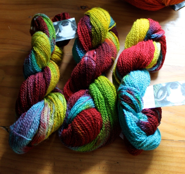 spectrum dyed yarn skeins