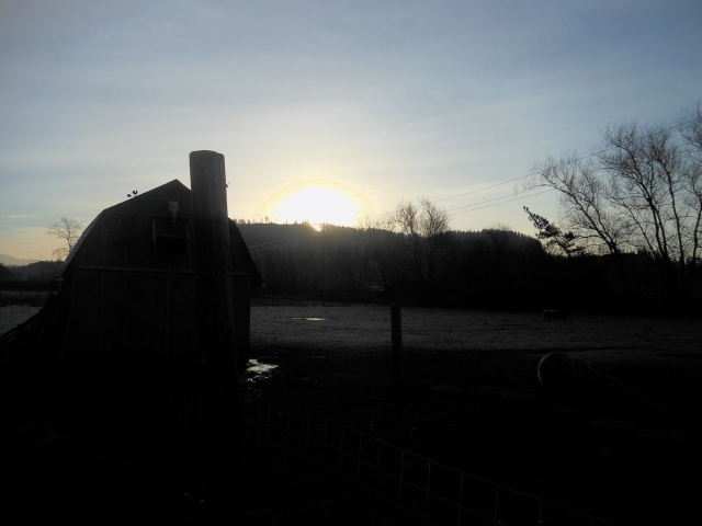 some light 58 minutes after sunrise
