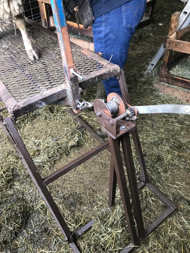 winch on stand