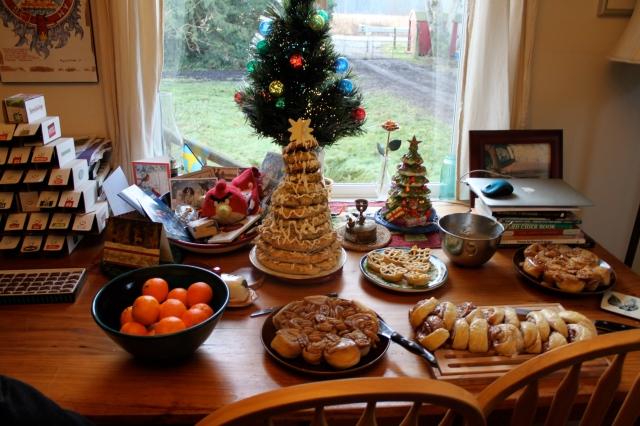 Christmas morning goodies